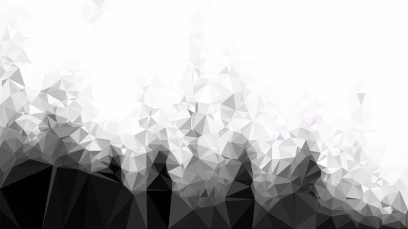 Black and White Polygonal Background Design Illustration