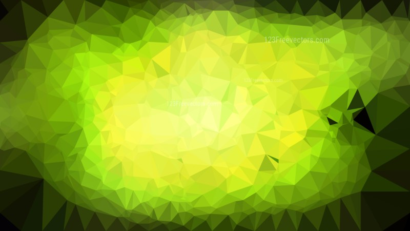 Black Green and Yellow Low Poly Abstract Background Illustrator