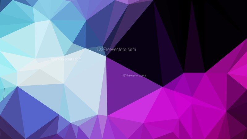 Black Pink and Blue Low Poly Abstract Background Illustrator