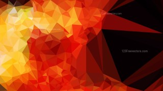 Black Red and Yellow Polygonal Triangle Background