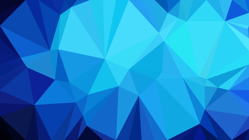 Blue Polygonal Triangle Background Vector