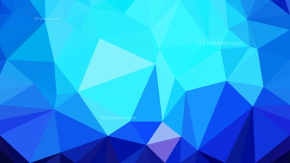 Abstract Blue Polygon Background Graphic