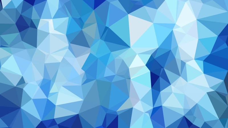 Abstract Blue Polygon Pattern Background Illustration