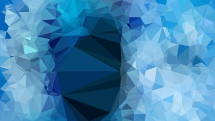 Blue Geometric Polygon Background