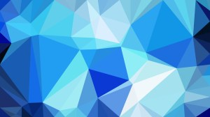 Blue Triangle Geometric Background Vector