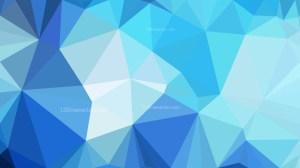 Blue Triangle Geometric Background Illustration