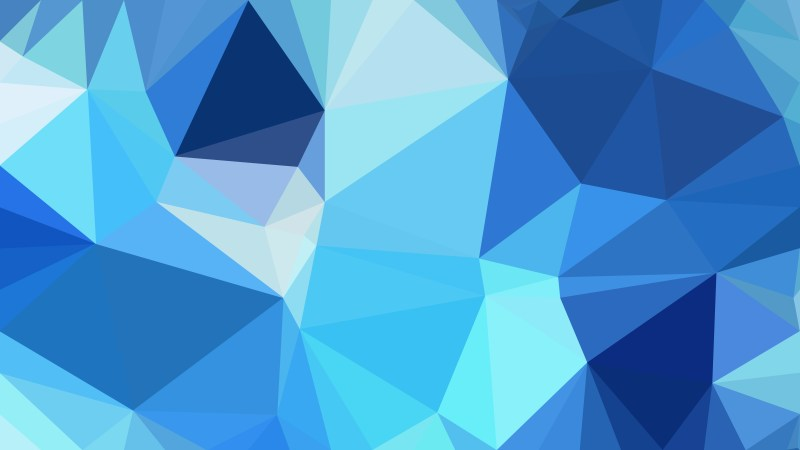 Abstract Blue Triangle Geometric Background Vector