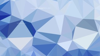 Blue Polygonal Triangle Background