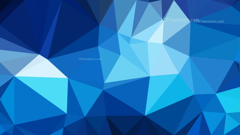 Abstract Blue Low Poly Background Template