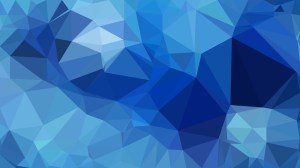 Abstract Blue Polygonal Triangular Background