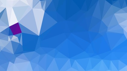 Blue Polygon Pattern Background