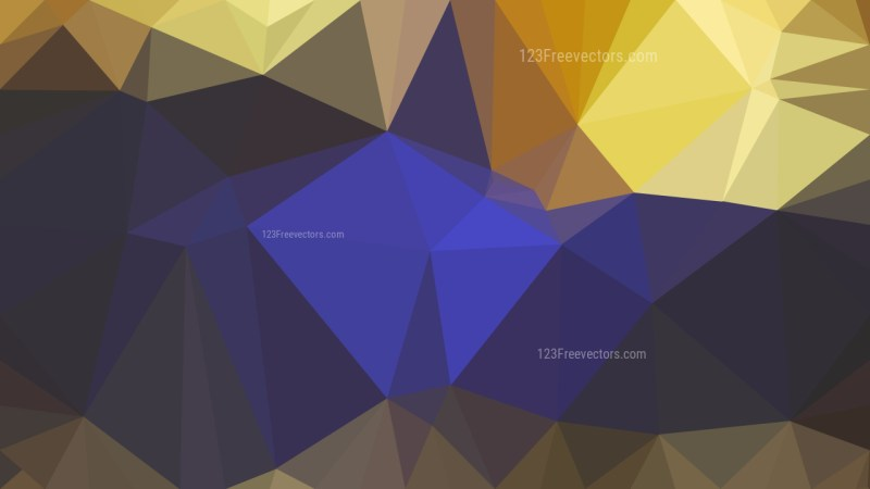 Abstract Blue and Gold Low Poly Background Template Design