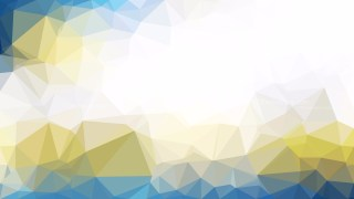 Blue and Gold Low Poly Abstract Background Design