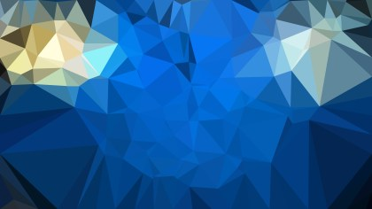 Blue and Gold Polygon Background Design Vector