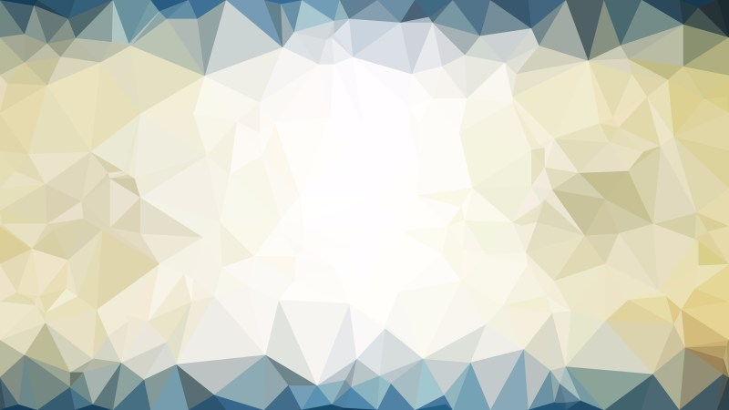 Blue and Gold Polygon Background Graphic Design Vector Art