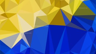 Blue and Gold Polygonal Background Template