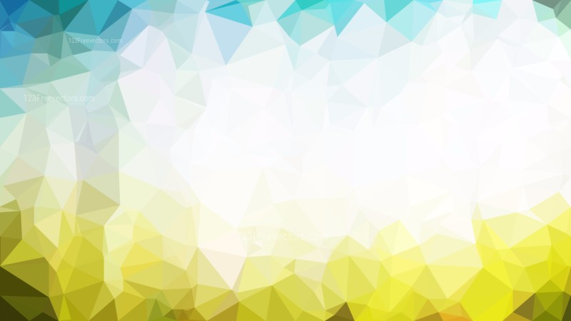 Abstract Blue and Gold Low Poly Background Template