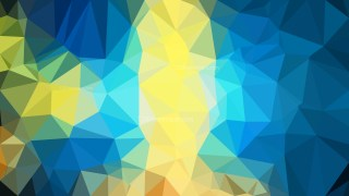 Abstract Blue and Gold Polygonal Background Template