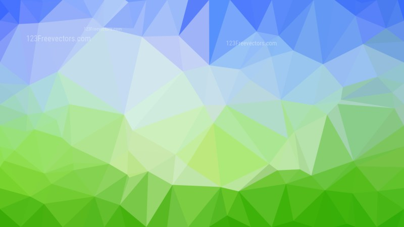 Abstract Blue and Green Polygon Background Graphic Design Image