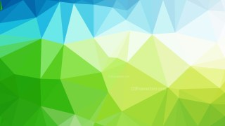 Abstract Blue and Green Polygonal Background Design Vector Image