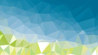 Abstract Blue and Green Polygonal Background
