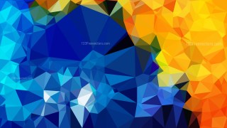 Blue and Orange Polygonal Triangular Background