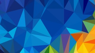 Abstract Blue and Orange Polygon Pattern Background