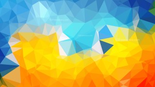 Abstract Blue and Orange Low Poly Background