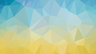 Abstract Blue and Orange Polygon Triangle Background