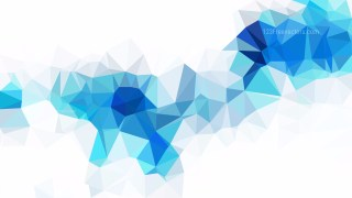 Blue and White Polygonal Background Template Vector Graphic