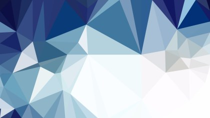 Blue and White Polygonal Triangular Background Vector Illustration