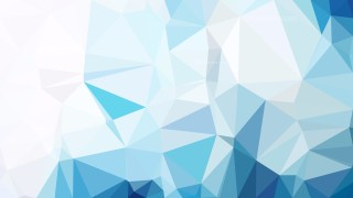 Blue and White Geometric Polygon Background