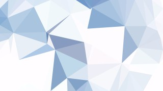 Blue and White Polygon Triangle Pattern Background Vector Art
