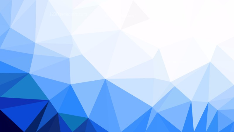 Blue and White Polygon Triangle Background
