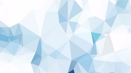 Abstract Blue and White Polygon Pattern Background