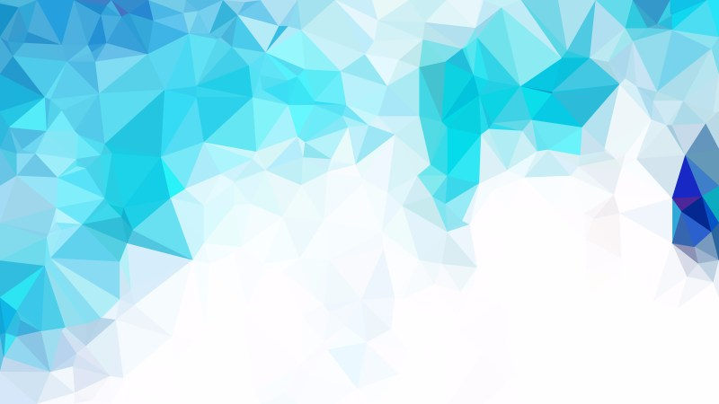 Abstract Blue and White Low Poly Background Template