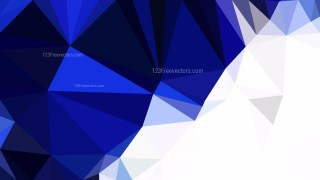 Abstract Blue and White Polygonal Background Template Illustrator