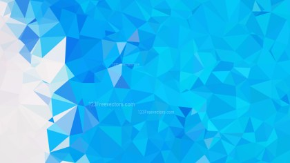 Abstract Blue and White Polygon Triangle Background Vector Illustration