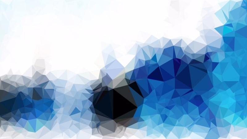 Abstract Blue and White Polygonal Triangular Background Vector Art
