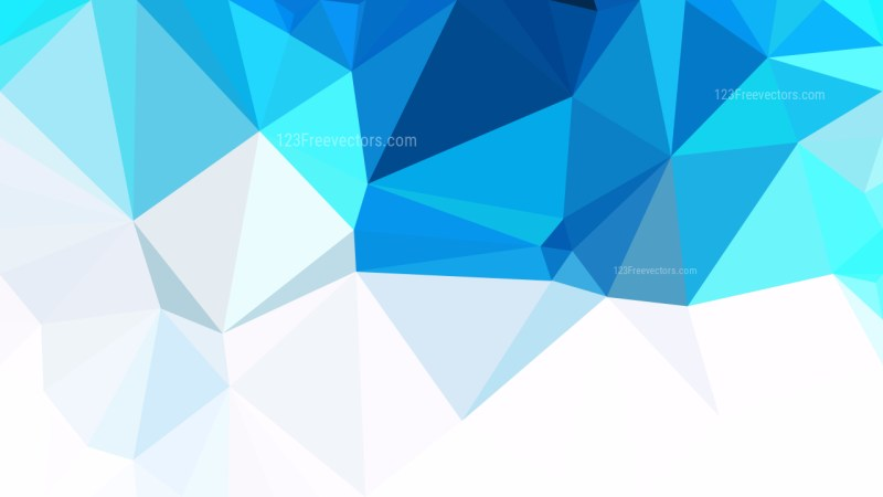 Blue and White Polygon Background Design