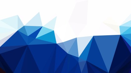 Abstract Blue and White Polygon Background Design