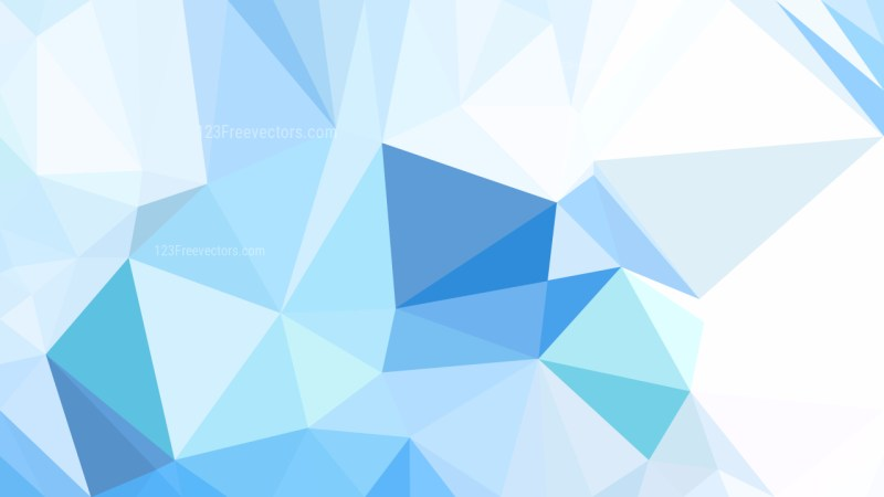 Blue and White Low Poly Abstract Background Design