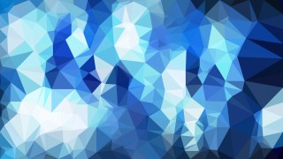 Blue and White Low Poly Background Design Vector