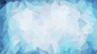 Blue and White Polygonal Background Design Image