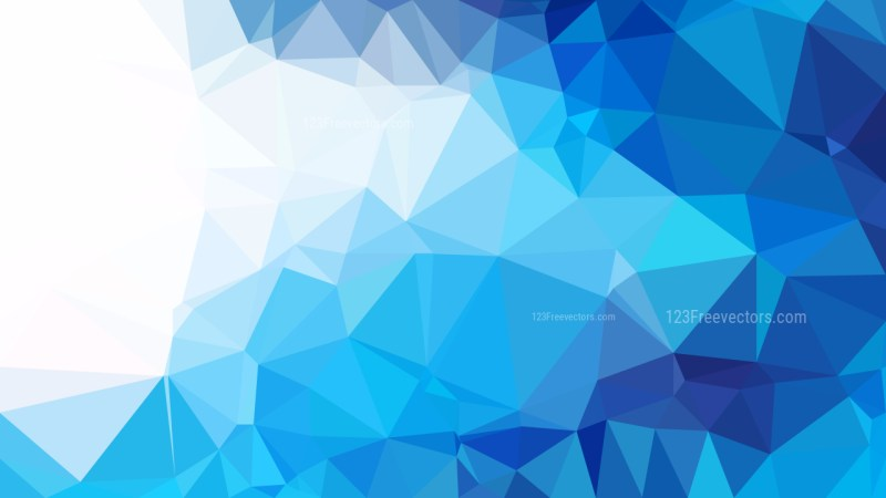 Blue and White Polygonal Abstract Background
