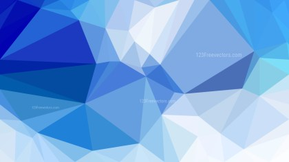 Blue and White Polygon Abstract Background Illustrator
