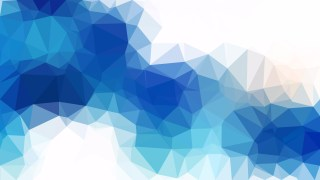 Blue and White Geometric Polygon Background Graphic