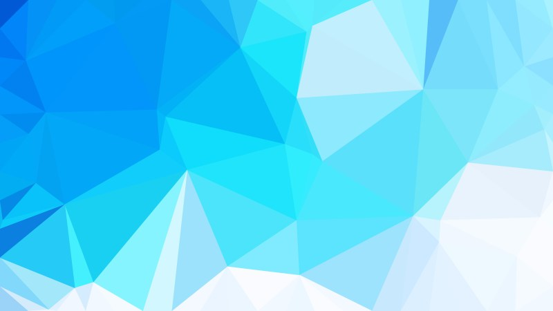 Abstract Blue and White Triangle Geometric Background