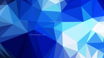 Abstract Blue and White Triangle Geometric Background Illustration