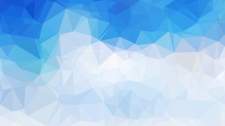Blue and White Polygon Background